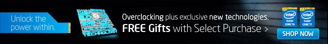 Intel - Overclocking plus exclusive new technologies. FREE Gifts with Select Purchase. SHOP NOW.