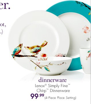 Dinnerware Lenox® Simply Fine™ Chirp™ Dinnerware 99.99 (4-Piece Place Setting)