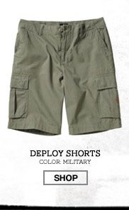 Deploy Shorts - Color: Military - Shop
