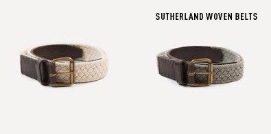 Sutherland Woven Belts