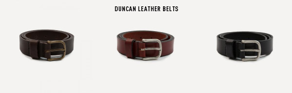 Duncan Leather Belts