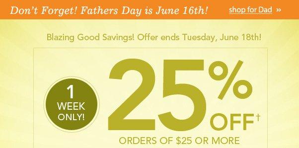 Hot Deal: 25% Off $25!