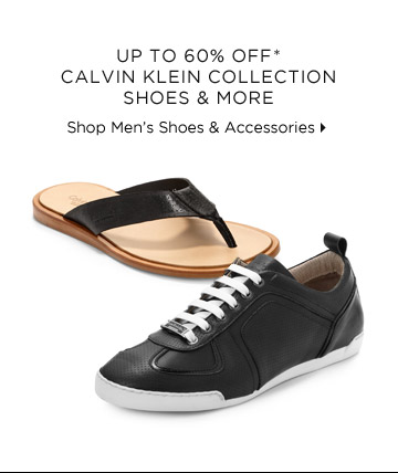 Up To 60% Off* Calvin Klein Collection Shoes & More