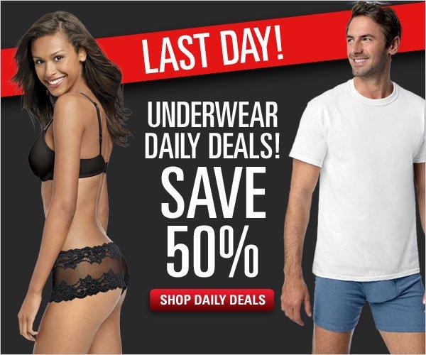 Save 50% on Underwear Daily Deals