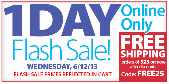 1 Day Only Flash Sale