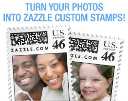 Turn your photos into Zazzle Custom Stamps!