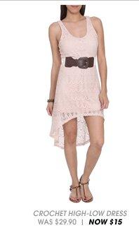 Shop Crochet High-Low Dress