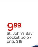 9.99 St. John's Bay pocket polo › orig. $18