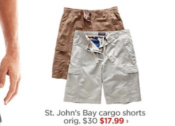 St. John's Bay cargo shorts orig. $30 $17.99 ›
