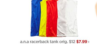 a.n.a. racerback tank orig. $12 $7.99 ›