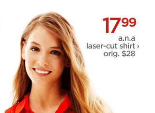 17.99 a.n.a laser-cut-shirt › orig. $28
