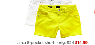 a.n.a. 5-pocket shorts orig. $24 $14.99 ›