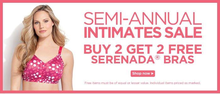 Buy 2 Get 2 Free Serenada Bras