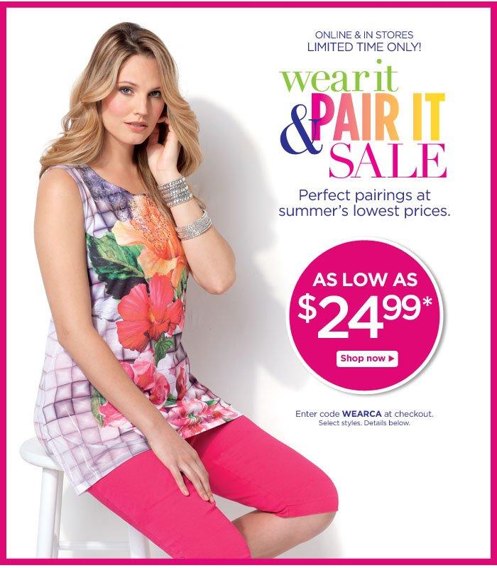 Wear It & Pair It Sale