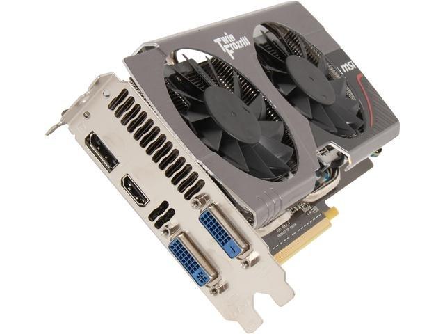 MSI N650TI TF 2GD5/OC BE GeForce GTX 650 Ti BOOST 2GB 192-bit GDDR5 PCI Express 3.0 SLI Support Video Card