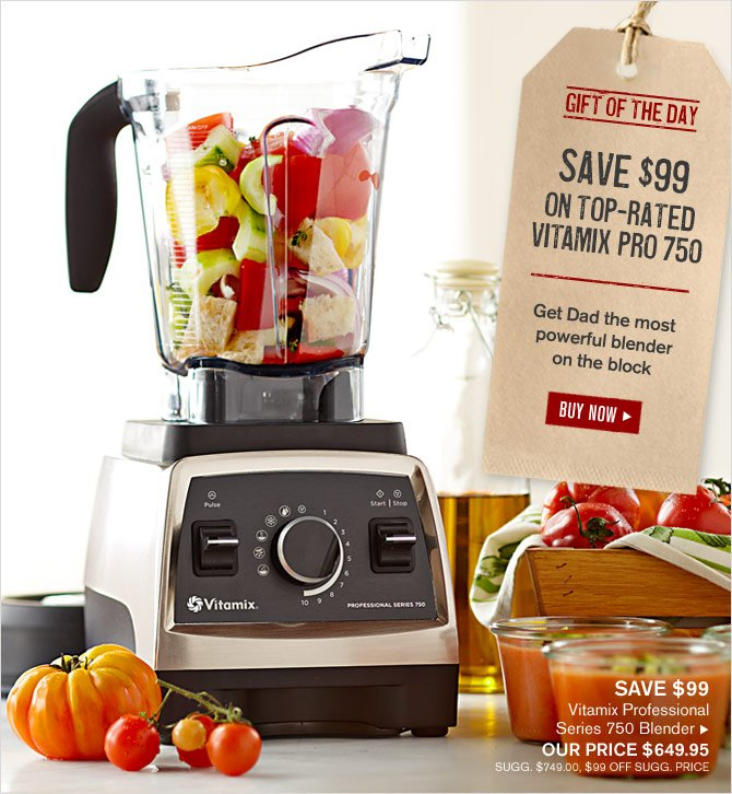 GIFT OF THE DAY - SAVE $99 ON TOP-RATED VITAMIX PRO 750 - Get Dad the most powerful blender on the block - BUY NOW