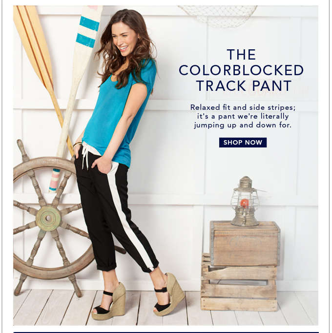 The Colorblocked Track Pant
