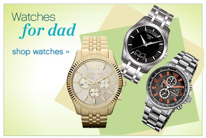 Designer watches for dad. Shop watches.
