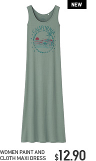 WOMEN PAINT AND CLOTH MAXI DRESS