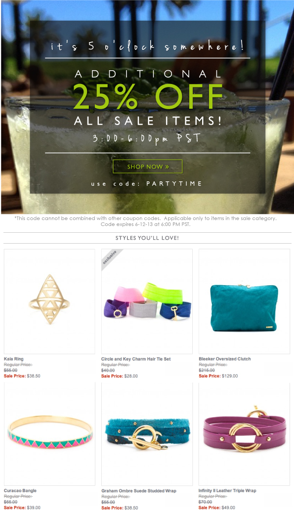 Additional 25% OFF All Sale Items!