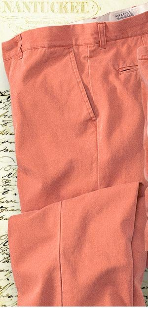 These pure cotton pants and shorts have been standard-issue summer wear for generations. Direct from Murray's Toggery Shop, a Nantucket fixture for more than half a century, these are the authentic Nantucket Reds.
