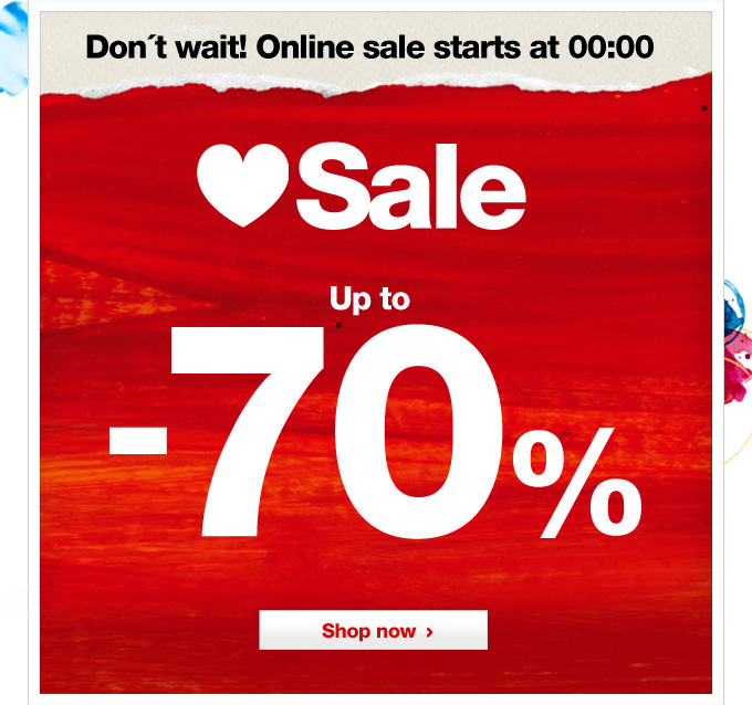 Sale up to -70%