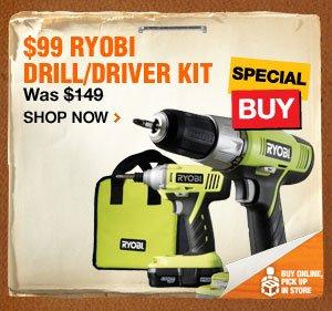 $99 Ryobi Drill/Driver Kit