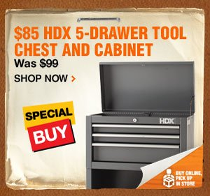 $85 HDX 5-Drawer chest and cabinet