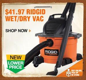 $41.97 Ridgid Wet/Dry Vac