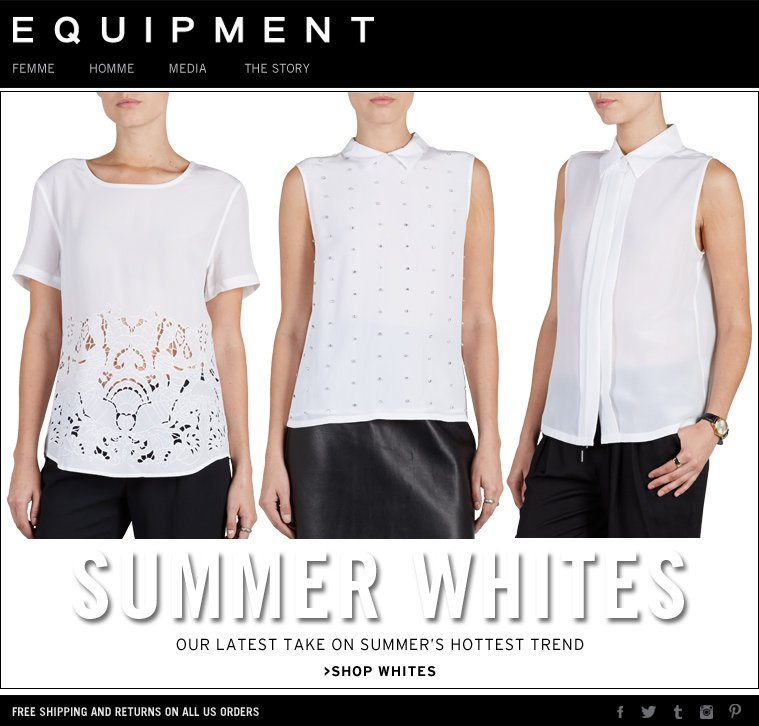 SUMMER WHITES OUR LATEST TAKE ON SUMMER'S HOTTEST TREND