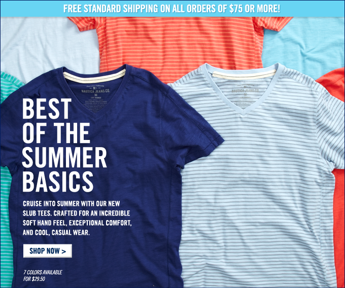 Back To The Summer Basics. Shop Slub Tees.