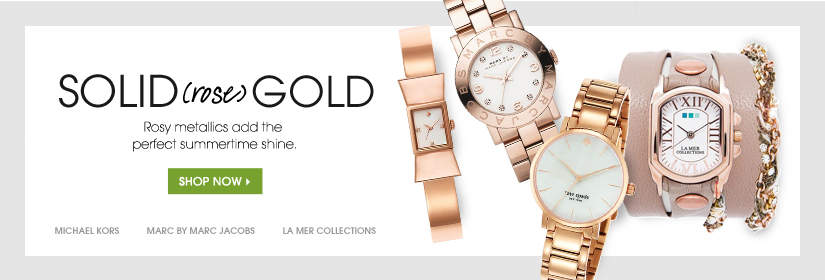 SOLID (rose) GOLD. Rosy metallics add the perfect summertime shine. SHOP NOW.