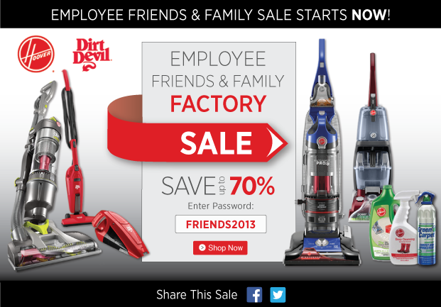 Exclusive Friends and Family Factory Sale! Save up to 70%! Use Password: FRIENDS2013