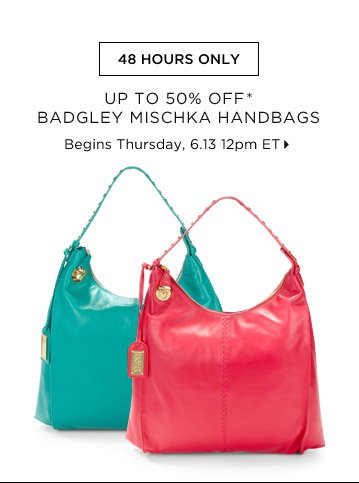 Up To 50% Off* Badgley Mischka Handbags...Shop Now