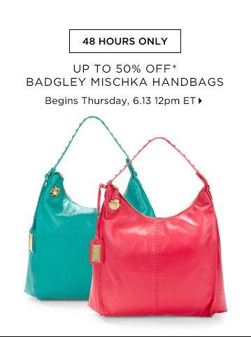 Up To 50% Off* Badgley Mischka Handbags...Shop Now