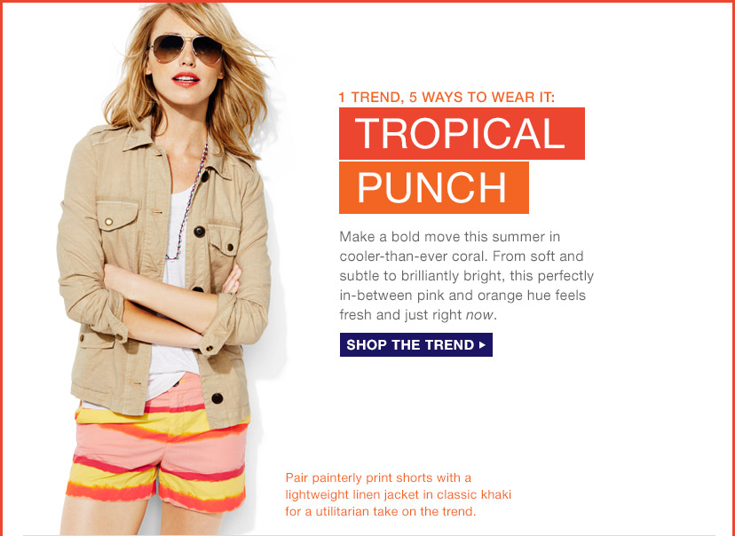1 TREND, 5 WAYS TO WEAR IT: TROPICAL PUNCH | SHOP THE TREND