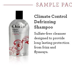 Climate Control  Defrizzing Shampoo Sulfate-free cleanser designed to provide long lasting protection from frizz and flyaways.