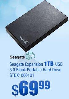 Seagate Expansion 1TB USB 3.0 Black Portable Hard Drive STBX1000101