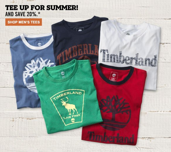 Tee Up for Summer and Save 20%! Shop Men's Tees...