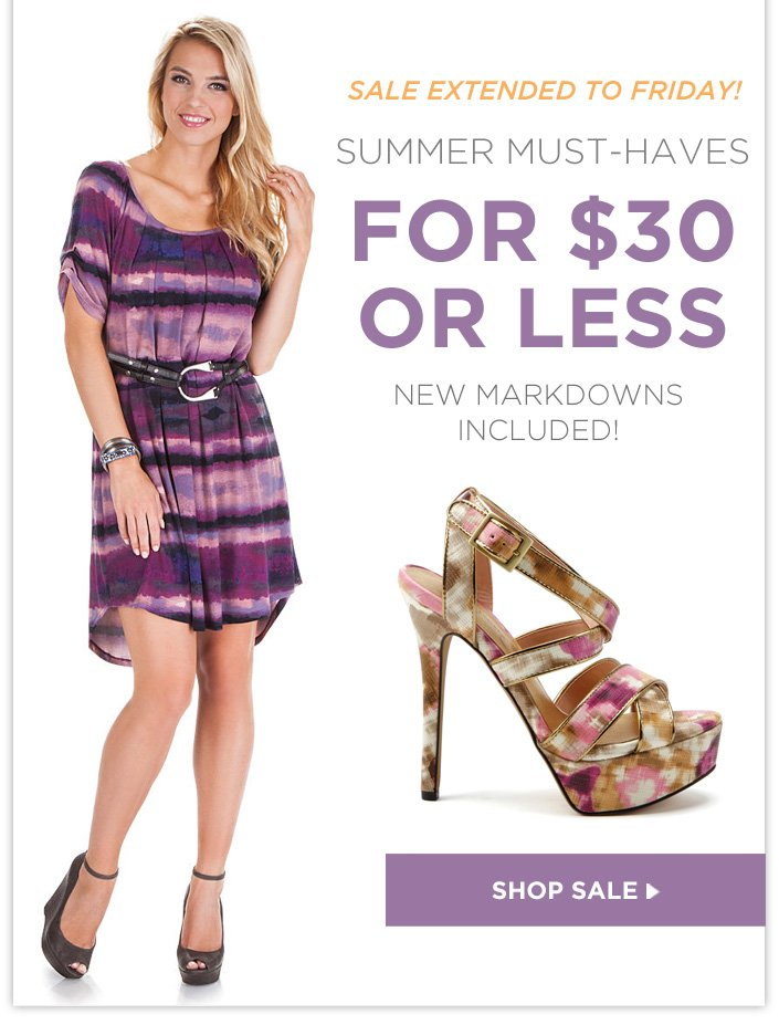 Summer Must-Haves for $30 or LESS. Ends Friday!
