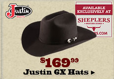 Justin 6X Hats on Sale