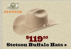 Stetson Buffalo Hats on Sale