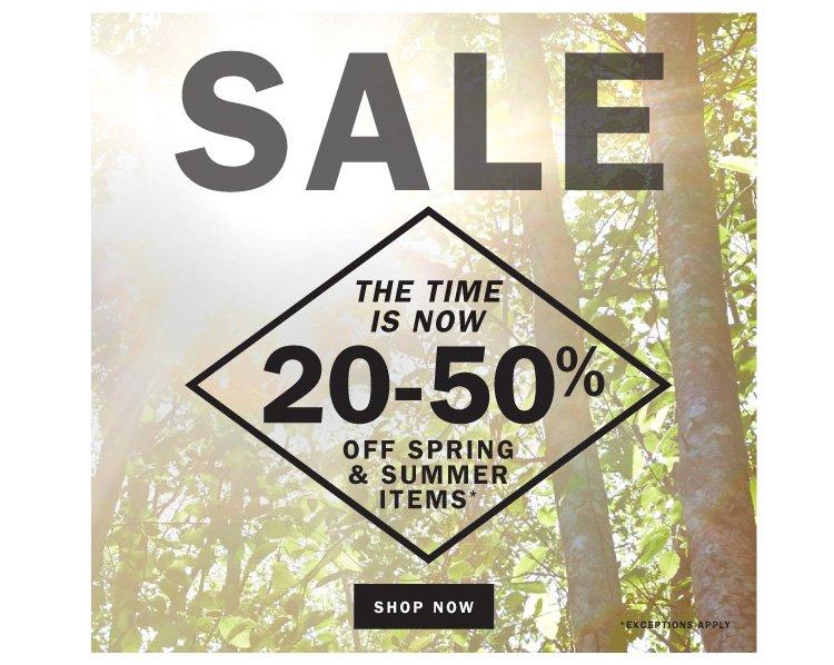 Sale 20-50% off!