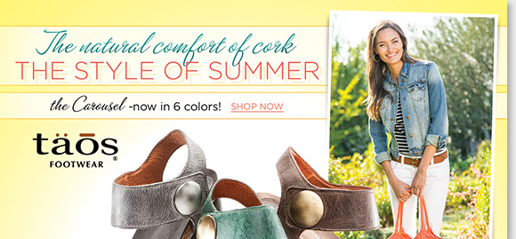 The style perfect for the summer, slip into the Taos 'Carousel,' featuring the lightweight comfort of cork! Now available in 6 great colors, the Carousel features wide, fully adjustable straps for the perfect fit! Shop now for the best selection at The Walking Company.