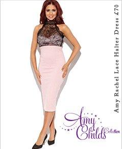 Amy Rachel Lace Halter Dress