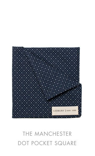 Manchester Dot Pocket Square