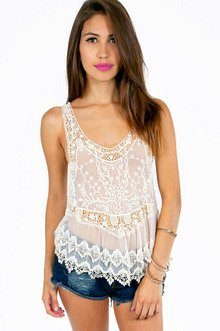 LACE YOUR ORDERS RACERBACK TOP 28