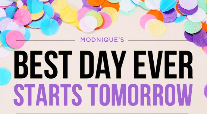 Modnique's Best Day Ever Starts Tomorrow
