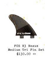 FCS H3 Nexus Medium Tri Fint Set $130.00