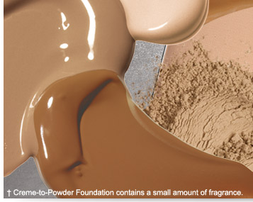 †Creme-to-Powder Foundation contains a small amount of fragrance.